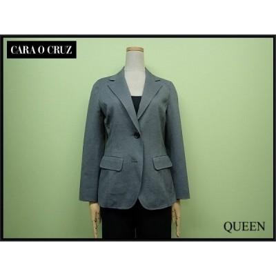CARA O CRUZ ジャケット▲キャラオクルス/レリアン Leilian/テーラードジャケット ブレザー/グレー¨