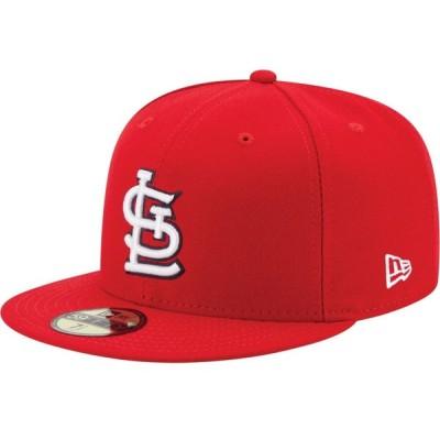 ニューエラ New Era メンズ キャップ 帽子 St. Louis Cardinals 59Fifty Game Red Authentic Hat