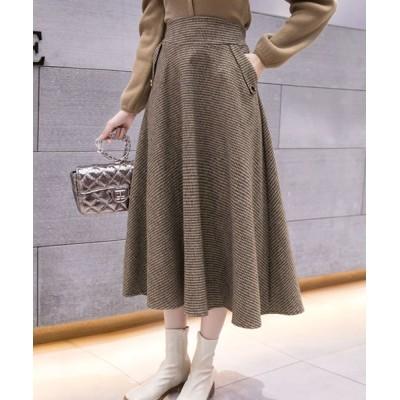 Grandeir / 千鳥格子チェック柄ハイウエストスカート WOMEN スカート > スカート