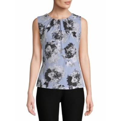 カルバンクライン レディース トップス シャツ Floral Pleated Blouse
