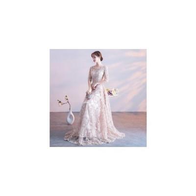 パーティードレスロングドレス演奏会結婚式ドレスワンピース二次会ドレスお呼ばれブライズメイドドレス発表会ウェディングドレスフォーマルドレス