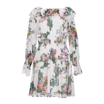 リュー ジョー LIU •JO ミニワンピース&ドレス ホワイト 42 ポリエステル 100% ミニワンピース&ドレス