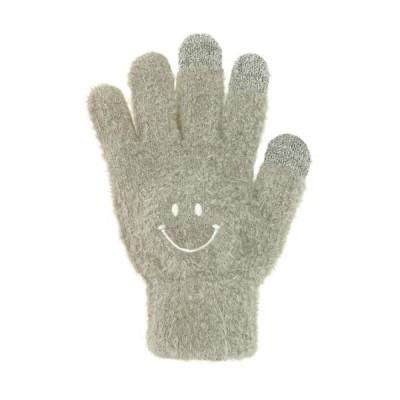 スマホ手袋 スマイル グレー 17318631046    フリーサイズ
