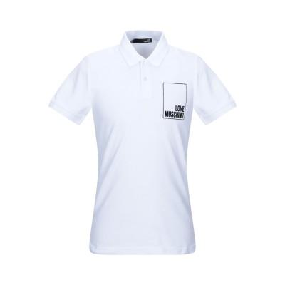 ラブ モスキーノ LOVE MOSCHINO ポロシャツ ホワイト L コットン 96% / ポリウレタン 4% ポロシャツ