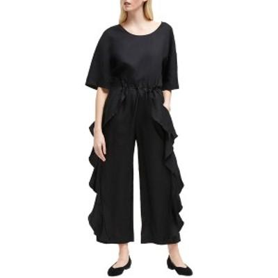 フレンチコネクション レディース ワンピース トップス French Connection Dae Linen-Blend Jumpsuit black
