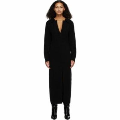 ナヌシュカ Nanushka レディース ワンピース ワンピース・ドレス Black Wool Hope Dress Off black