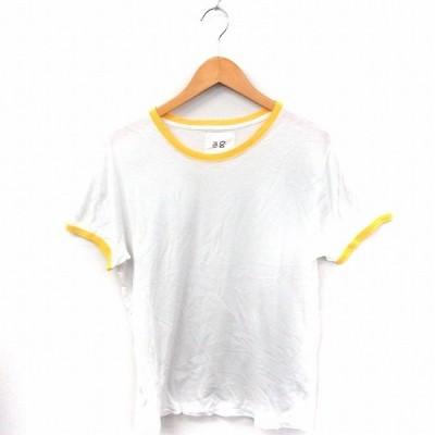 【中古】アーバンリサーチ URBAN RESEARCH Tシャツ カットソー イカリマーク 丸首 半袖 綿 38 ホワイト 白 /FT16 レディース 【ベクトル 古着】
