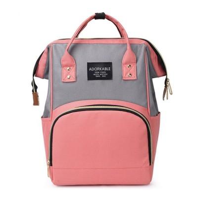 女性ファッションキャンバスカジュアルミイラと子供パッチワークバックパックハンドバッグ
