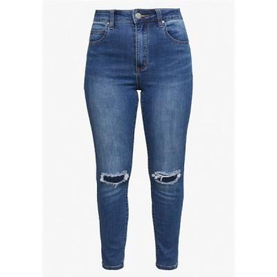 コットンオン デニムパンツ レディース ボトムス HIGH RISE CROPPED - Jeans Skinny Fit - mid blue