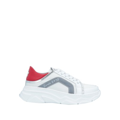 NILA & NILA スニーカー&テニスシューズ(ローカット) ホワイト 37 革 / 紡績繊維 スニーカー&テニスシューズ(ローカット)