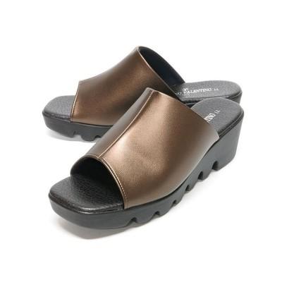 【フットプレイス】 レディース サンダル オフィス FIRST CONTACT ファーストコンタクト IM-6455 レディース ブロンズ L FOOT PLACE
