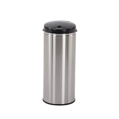 ゴミ箱、(シルバー)ステンレス製のふた付きスマートゴミ箱容量45リットルで独特の臭いが漏れず寝室やリビングルームでの使用に最適