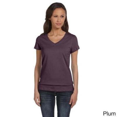 レディース 衣類 トップス Bella Women's Cotton V-neck T-shirt Tシャツ