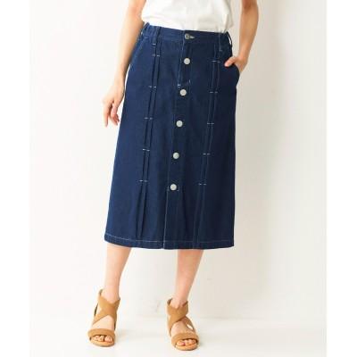 【大きいサイズ】 綿100%デザインデニムスカート スカート, plus size skirts