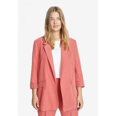 マンゴ Violeta By Mango レディース スーツ・ジャケット 大きいサイズ アウター Plus Size Modal-Blend Suit Blazer Pink
