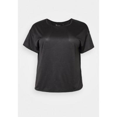 アンダーアーマー レディース Tシャツ トップス TECH VENT  - Basic T-shirt - black black