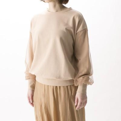 エルドアンジュ Aile de ange チュール袖付き裏起毛プルオーバー ADA2-0036Fギフトラッピング無料