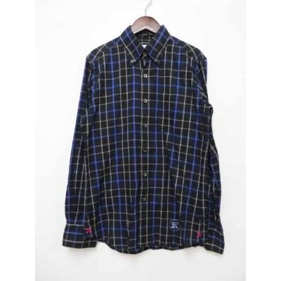 【中古】ユニフォームエクスペリメント uniform experiment BD チェックロングスリーブ シャツ  UE-90035 【ブランド古着ベクトル】200822★104 メンズ