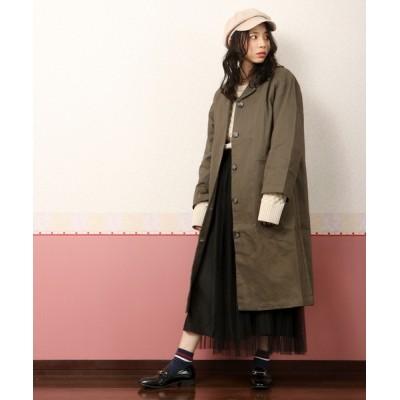 FUNALIVE / 【D*g*y】厚地コットンテーラードカラーコート womens WOMEN ジャケット/アウター > ステンカラーコート