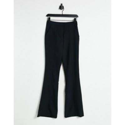 エイソス レディース カジュアルパンツ ボトムス ASOS DESIGN slim kick flare pants with seams in black Black