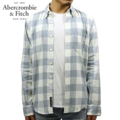 アバクロ シャツ メンズ 正規品 Abercrombie&Fitch 長袖シャツ ワークシャツ  BLEACH WASH TWILL SHIRT 125-168-2755-218