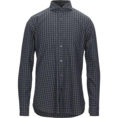 キャリバン CALIBAN 820 メンズ シャツ トップス Checked Shirt Steel grey