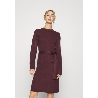 レディース ドレス VIWULVA TIE BELT DRESS - Jumper dress - winetasting