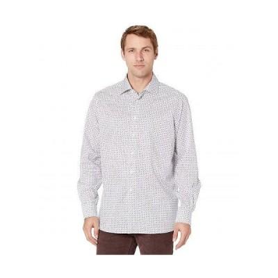 Eton イートン メンズ 男性用 ファッション ボタンシャツ Contemporary Medallion Print Signature Twill Shirt - Blue