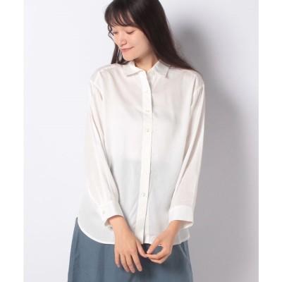 Petit Honfleur バックスリットチュニックシャツ(アイボリー)【返品不可商品】
