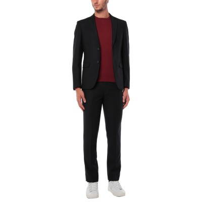 LUIGI CONVERTINI スーツ ブラック 50 ポリエステル 70% / レーヨン 30% スーツ