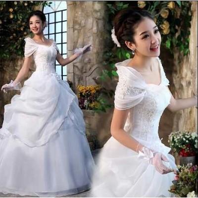 可愛い 結婚式 プリンセス 二次会 高級なウェディング ドレス パーティー カラードレス 演奏会 披露宴 花嫁 20 代 30 40 韓国 オルチャン