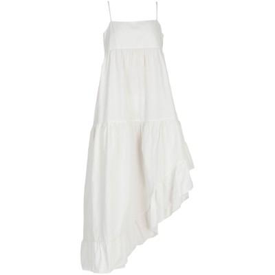 8PM ロングワンピース&ドレス アイボリー S コットン 100% ロングワンピース&ドレス