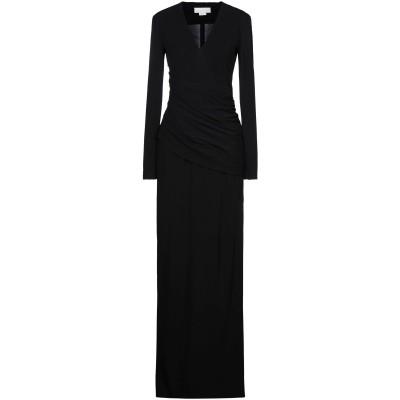 ジェニー GENNY ロングワンピース&ドレス ブラック 42 レーヨン 100% ロングワンピース&ドレス
