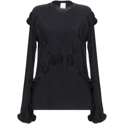 ピンコ PINKO T シャツ ブラック S レーヨン 94% / ポリウレタン 6% T シャツ