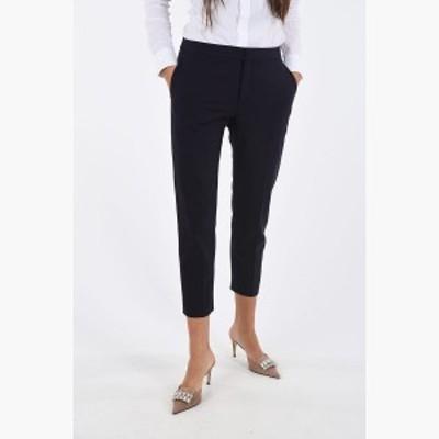CHLOE/クロエ スリムパンツ Blue レディース Single Pleat Straight Fit Pants dk