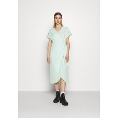 モンキ レディース ワンピース トップス ENLIE WRAP DRESS - Day dress - green green