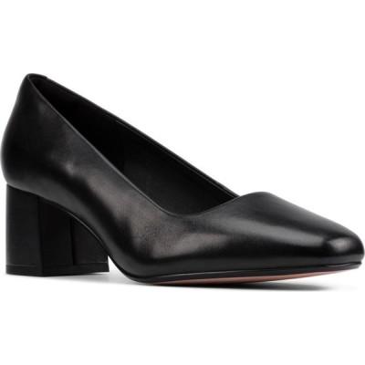 クラークス CLARKS レディース パンプス シューズ・靴 Sheer Rose Pump Black/Black Leather