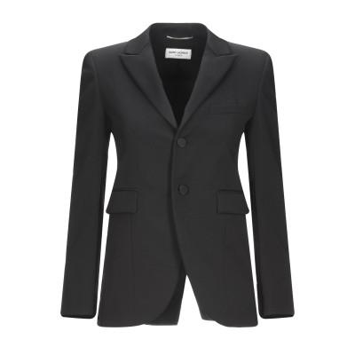SAINT LAURENT テーラードジャケット ブラック 34 バージンウール 100% / ポリエステル テーラードジャケット