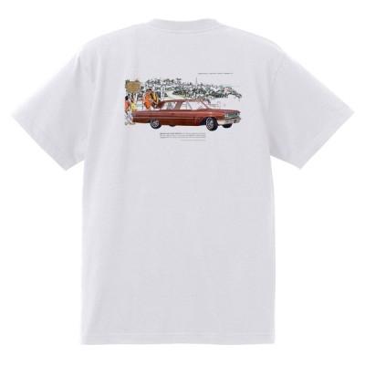 アドバタイジング フォード 799 白 Tシャツ 黒地へ変更可 1963 サンダーバード ギャラクシー ファルコン アドバタイズメント オールディーズ