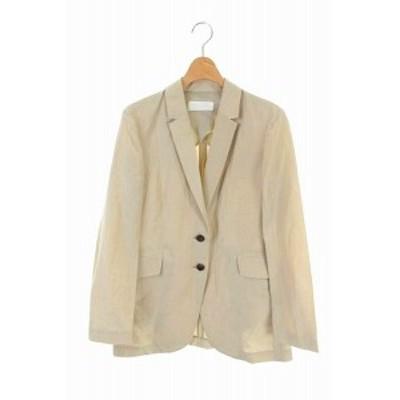 【中古】未使用品 BALLSEY トゥモローランド 20SS テーラードジャケット リネン混 シルク混 36 ベージュ レディース
