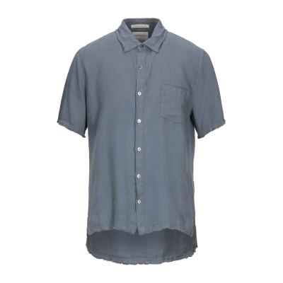 CROSSLEY シャツ ブルーグレー S リネン 100% シャツ