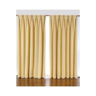 1級遮光カーテンと花粉キャッチミラーレース 2枚入り イエロー 200X230(228)