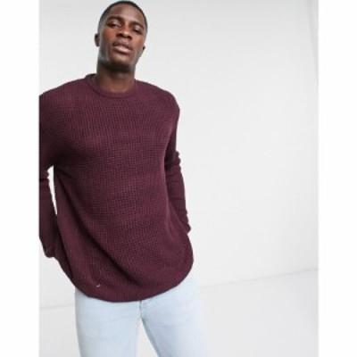 ブレイブソウル Brave Soul メンズ ニット・セーター ドロップショルダー トップス Crew Neck Textured Knitted Jumper With Drop Should