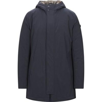 マニュエル リッツ MANUEL RITZ メンズ コート アウター Coat Dark blue