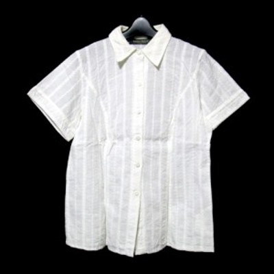 MARINA RINALDI マリナリナルディ イタリア製 刺繍ブラウス (半袖 シャツ) 093232【中古】