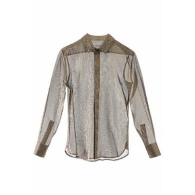 SAINT LAURENT PARIS/イヴ サンローラン レースシャツ OR Saint laurent lame shirt レディース 春夏2020 590085 Y6A84 ik