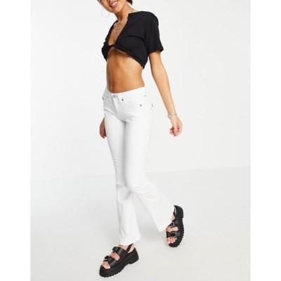 トゥルーレリジョン レディース デニムパンツ ボトムス True Religion joey midrise flare fray hem jeans in optic white