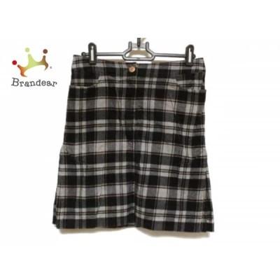 ナラカミーチェ NARACAMICIE スカート サイズO レディース 黒×グレー×ピンク チェック柄           スペシャル特価 20191029