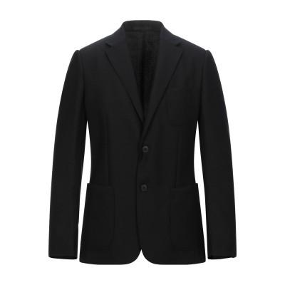 ZZEGNA テーラードジャケット ブラック 56 ウール 100% / キュプラ テーラードジャケット