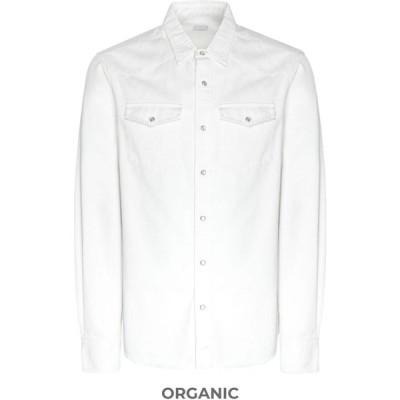 オット バイ ユークス 8 by YOOX メンズ シャツ トップス solid color shirt White